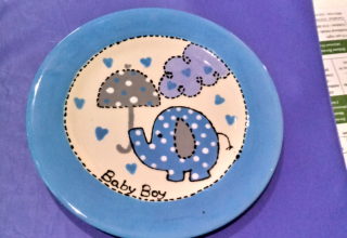 Baby shower plate
